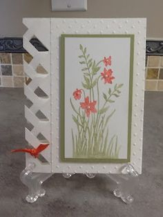 """Christi's Creative Crew: Just Believe Braiding Card.   Google the word """"incire"""" and you will find templates for more shapes for this technique."""
