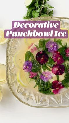 Chai, Ring Cake, Brunch Party, Punch Bowls, Round Cake Pans, Edible Flowers, Cute Food, Fresh Herbs, The Fresh