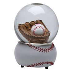 "BASEBALL SNOW-GLOBE.......a music box that plays ""Take Me Out to the Ballpark;"" ..and you try to put the ball in the mitt."