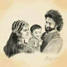 This picture makes me really sad because bahubali dies right after his son was born and he never got to hold him(shiva) in his arms Couple Sketch Drawing, Pen Sketch, Prabhas Pics, Pictures, Hd Photos, Bahubali 2 Movie, Prabhas And Anushka, Emoji Movie, Forest Scenery