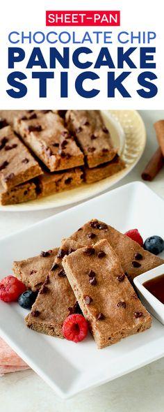 Sheet-Pan Chocolate Chip Pancake Sticks