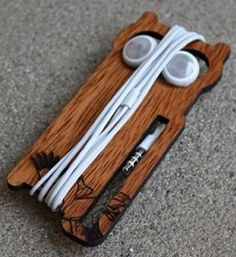 Owl Earbud holder