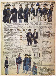 08 Uniformi e distintivi di Armi varie - 1861