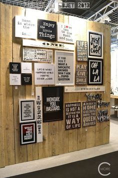 C-More : High-lights Maison et Objet 2013 part 2 | Wall covering | Quotes