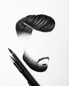 Hair, moustache and beard. Mens Hairstyles With Beard, Hair And Beard Styles, Haircuts For Men, Short Hair Styles, Hair Cutting Techniques, Gents Hair Style, Beard Haircut, Hair Png, Hair Sketch