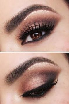 Here is a simple make up look for having a night out with the girls! Day Eye Makeup, Smokey Eye Makeup, Skin Makeup, Eyeshadow Makeup, Beauty Makeup, Smoky Eyes, Smokey Eye For Brown Eyes, Makeup For Brown Eyes, Ball Make-up