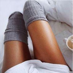 Sexy Fashion Women Girl Thigh High Stockings Knee High Socks Womens 7 Colors Cute Long Cotton Warm Over The Knee Socks Femme Winter Stockings, Lady Stockings, Knit Stockings, Fishnet Stockings, Thigh High Socks, Thigh Highs, Knee Highs, Pyjama Sexy, Sock Leggings