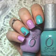 Blue and light purple nail manicure allowed making this manicure beautiful…