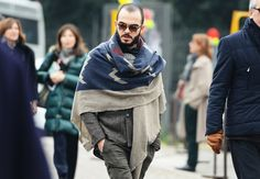 BLANKET | It's everywhere in Europe. MUST HAVE! Tommy Ton's Street Style: Pitti Uomo Fall 2013: Style: GQ