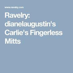Ravelry: dianelaugustin's Carlie's Fingerless Mitts