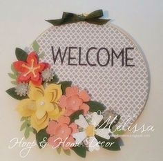 Stampin' Up! Flower Frenzy Hoop & Home Decor - Kit & tutorial now available on my blog - www.rubberfunatics.blogpsot.com