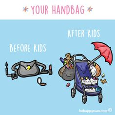 Clutch bags are a thing of the past after children! #funny #parentinghumour