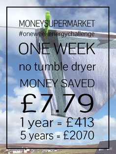 The MoneySuperMarket One Week Energy Challenge - how much could you save?