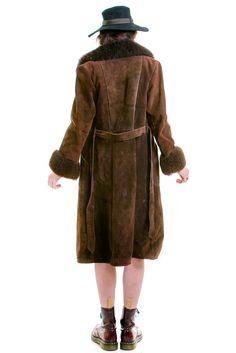 Chocolate Brown Long Penny Lane Coat - XS/S/M