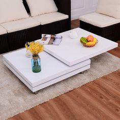 LALIA II Couchtisch Eiche Furniert/matt Weiß Lackiert | Salontafel |  Pinterest | Couchtisch Eiche, Lackieren Und Couchtische