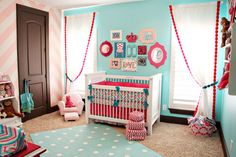 tiffany blue nursery...REALLY LOVE THE COLORS