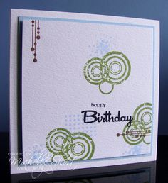cute stamped birthday card