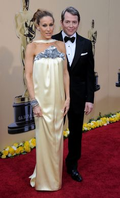 Sarah Jessica Parker and Matthew Broderick. She says '' I love Matthew Broderick, I really do love him.'' Aww.