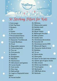 Kids/teen stocking stuffer ideas!