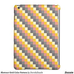 Abstract Grid Color Pattern Tablet Case  Available on more products! Just click the 'Available On' link on this product's page! Thanks for looking!  @zazzle #art #abstract #grid #pattern #orange #grey #gray #yellow #square #modern #phone #case #iphone #apple #samsung #computer #accessory #fashion #style #accessories #fun #chic #life #lifestyle #cool #sweet #buy #shop #shopping #gift #idea #sale #gear #neat