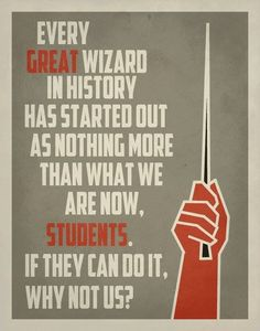 Inspirational Classroom Poster / Harry Potter Quote Poster / Typography…