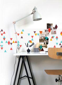 Horizontale en verticale compositie- Ordening van vormen naast of boven elkaar, het maakt een rustige indruk