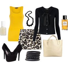 Love the yellow with black!