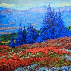 """Northern Blues"" by Artist Dominik Modlinski.   Oil on Canvas 40"" x 40"" #CanadianArt"