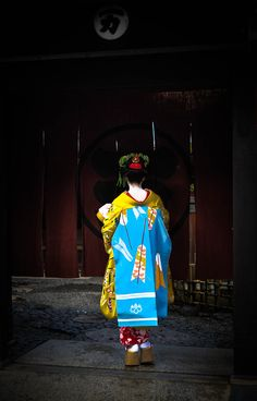 Darari obi of okiya Tama (Gion Kobu)