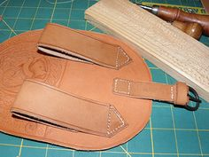 Leather belt pouch (with stamping)