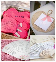 idees programme mariage livret de messe sur batonnet eventail