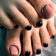 21 Chic Toe Nail Designs to Complete Your Image ❤ Chic and Stylish Black Toe N., 21 Stylish Toe Nail Designs to Full Your Picture ❤ Stylish and Fashionable Black Toe N. 21 Stylish Toe Nail Designs to Full Your Picture ❤ Styli. Black Toe Nails, Pretty Toe Nails, Cute Toe Nails, My Nails, Gel Toe Nails, Coffin Nails, Nail Designs Pictures, Black Nail Designs, Toe Nail Designs