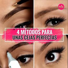 15 Trucos para unas cejas perfectas - Care - Skin care , beauty ideas and skin care tips Eyebrow Makeup Tips, Eye Makeup Steps, Beauty Makeup, Beauty Desk, Makeup Tricks, Beauty Skin, Hair Beauty, Eye Tricks, Beauty Hacks For Teens