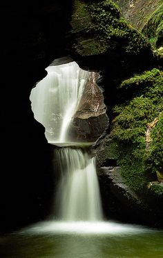 St Nectan's Glen Waterfalls, Cornwall, UK, A mystical place often called Merlin's Well.