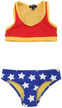 f6746d650e478 Wonder Woman Lycra Bikini Wonder Woman Makeup, Wonder Woman Movie, Baby  Swimsuit, Kids
