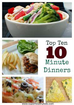 ten minute dinner collage