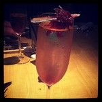 Hibiscus - Pear vodka, St. Germaine, prosecco with hibiscus flower from Kona Grill.
