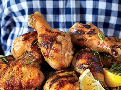 For the tastiest chicken ever, brine a whole cut-up chicken in the South's signature beverage--sweet tea with lemon.