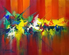 Today, I am sharing abstract palette knife paintings  by one of the very talented Spanish artist  and his name is Josep Teixido . I ...