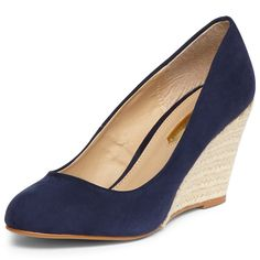 I've been looking for some navy wedges like the ones my girl crush Kate Middleton has. Think these are it!