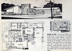 Plan P-447: 1961 | Flickr - Photo Sharing! 3 Bed, 2.5 Bath, 2- car Garage