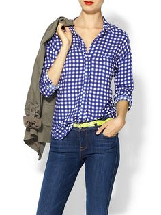 Piperlime | Gingham Pocket Tunic