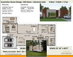 Container home layout and shipping container home floor plans 3 bedroom. Cargo Container Homes, Container House Plans, Shipping Container Homes, Floor Design, House Design, 3 Bedroom Floor Plan, Building Code, Australian Homes, House Layouts