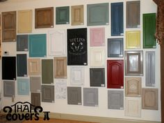 #cabinet ideas displayed in store #inspiration #anniesloan #chalkpaint #thatcoversit
