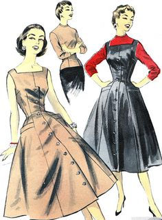 Vintage Sewing Pattern 1950s Advance 7760 Jumper or by paneenjerez, $16.00