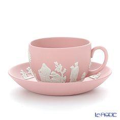 Wedgwood Jasper pink tea cup and saucer
