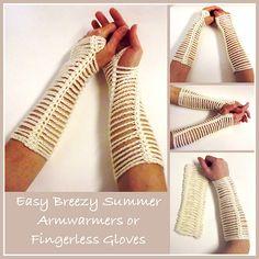 Ravelry: Easy Breezy Armwarmers pattern by Rhelena's Crochet Patterns