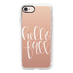 Hello Fall - Rose Gold - iPhone 7 Case, iPhone 7 Plus Case, iPhone 7... ($50) ❤ liked on Polyvore featuring accessories, tech accessories, iphone case, apple iphone cases, iphone cover case, iphone cases and rose gold iphone case