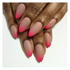 matte neon dipped claws for this babe @shapewithangela  | inspired by this dude @chaunpnails