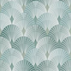 Engblad & Co 57.8 sq. ft. Pigalle Green Fan Wallpaper
